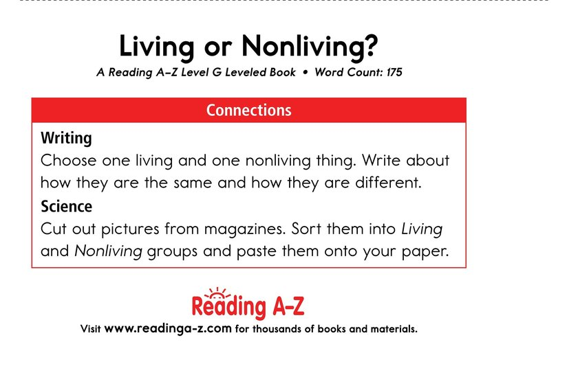 Book Preview For Living Or Nonliving? Page 13