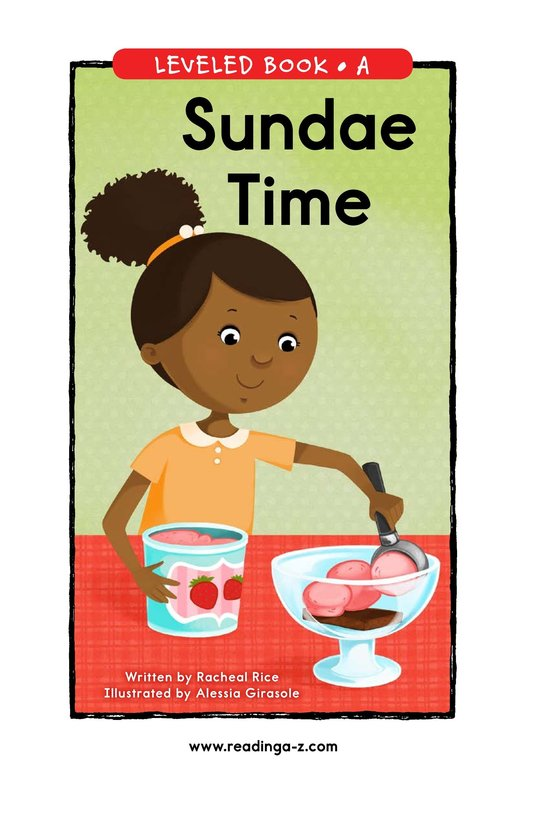 Book Preview For Sundae Time Page 0