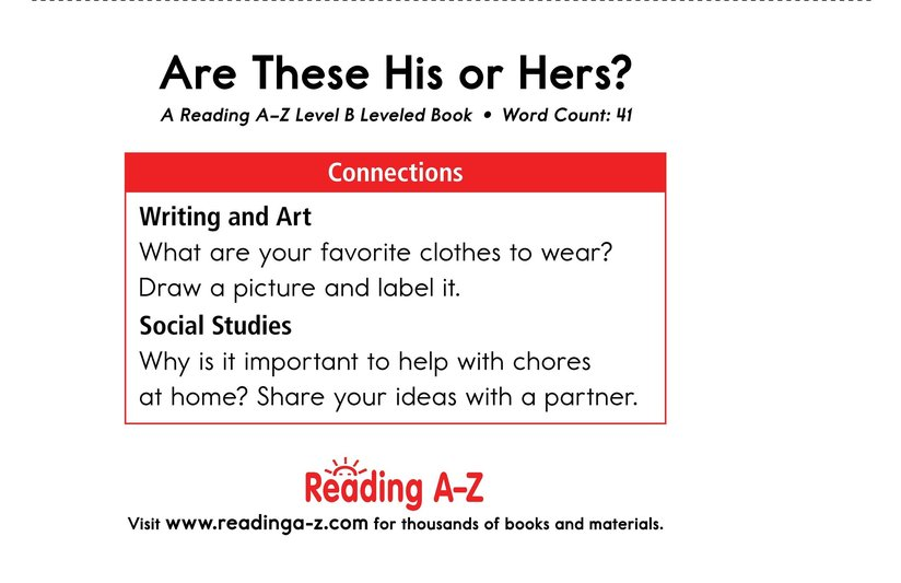 Book Preview For Are These His or Hers? Page 11