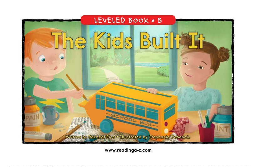 Book Preview For The Kids Built It Page 0