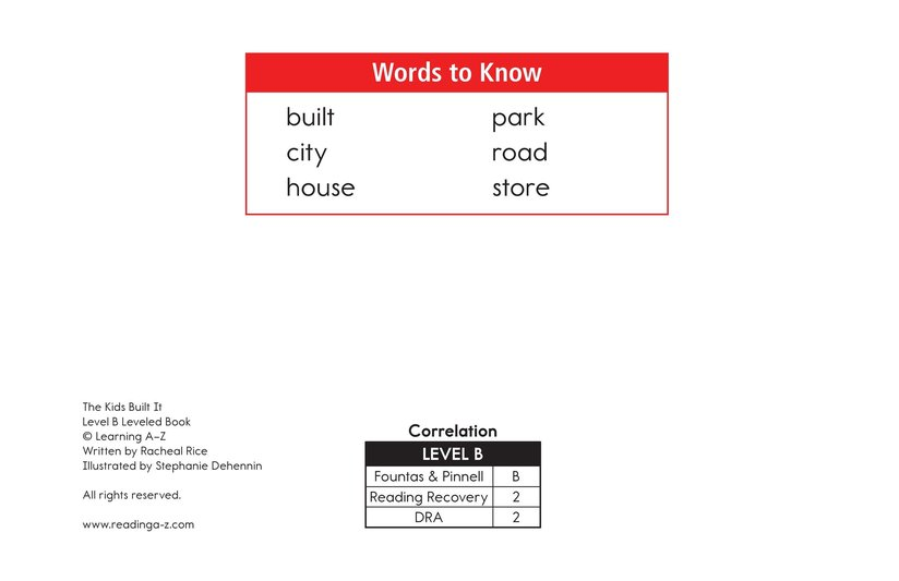 Book Preview For The Kids Built It Page 2