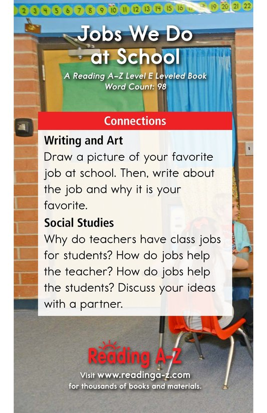 Book Preview For Jobs We Do at School Page 13