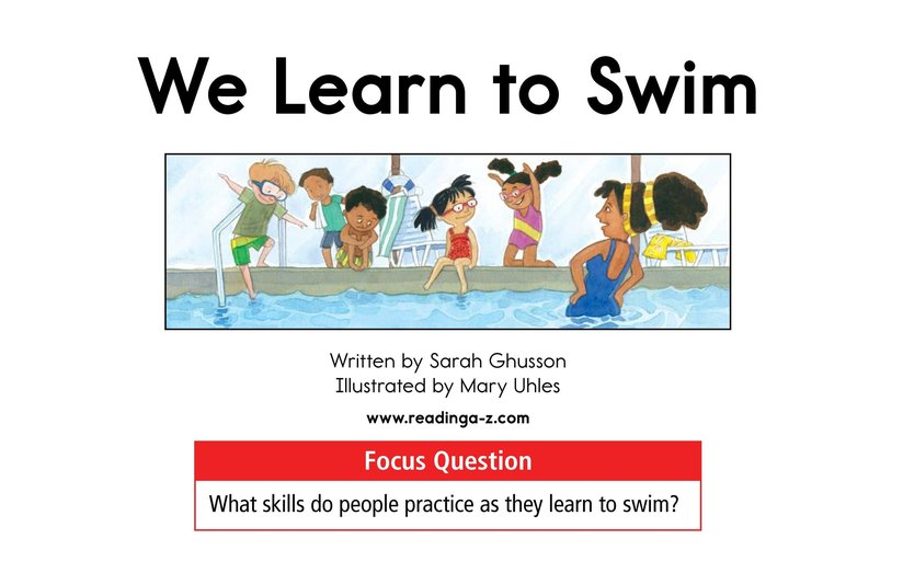 Book Preview For We Learn to Swim Page 1