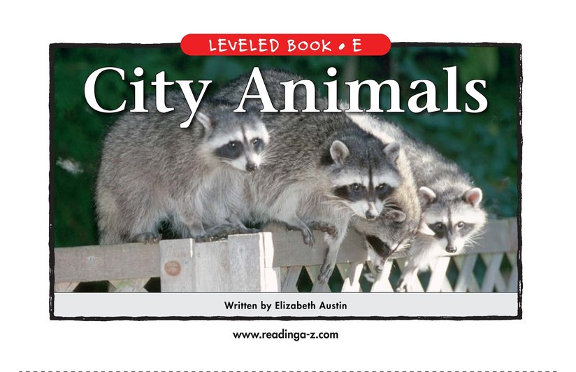 Book Preview For City Animals Page 1