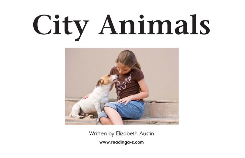 Book Preview For City Animals Page 2