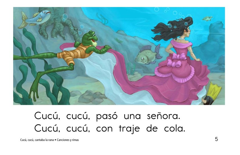 Book Preview For Cucú, cucú, cantaba la rana Page 5
