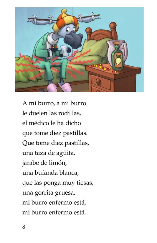 Book Preview For Mi burro enfermo Page 8