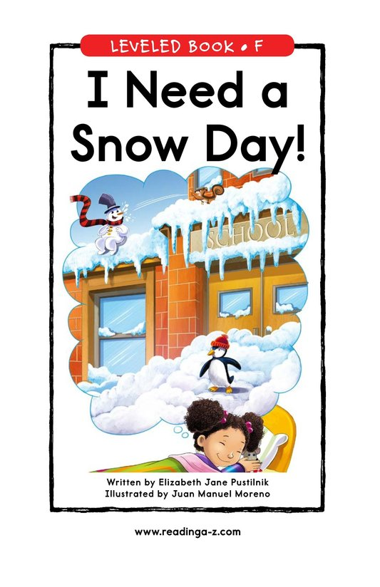 Book Preview For I Need a Snow Day! Page 0