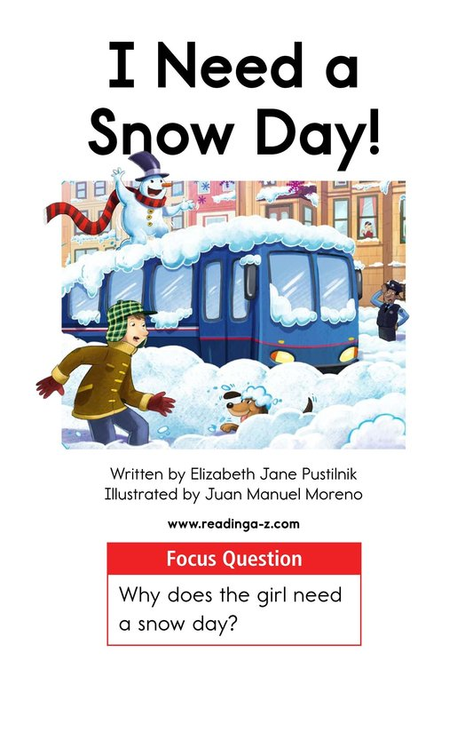 Book Preview For I Need a Snow Day! Page 1
