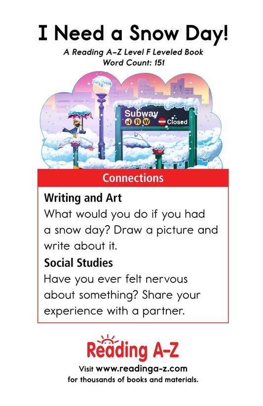 Book Preview For I Need a Snow Day! Page 13