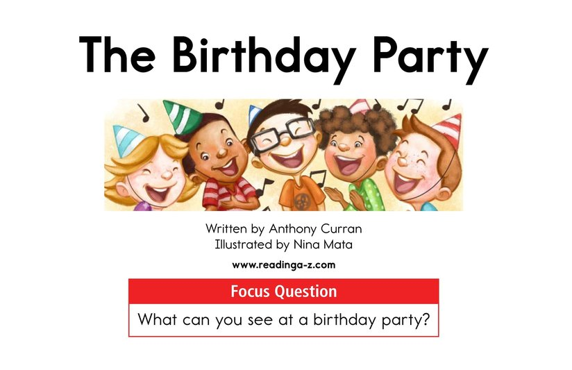 Book Preview For The Birthday Party Page 1