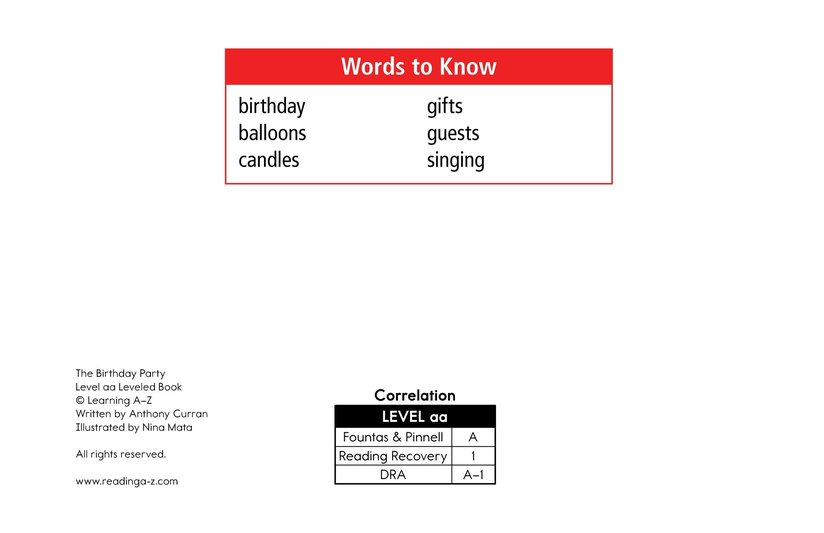 Book Preview For The Birthday Party Page 2
