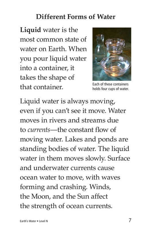 Book Preview For Earth's Water Page 7