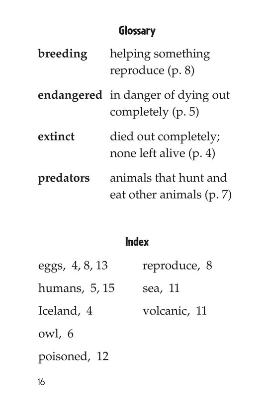Book Preview For Endangered Birds Page 16