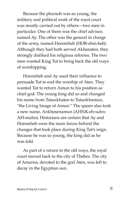 Book Preview For The Mystery of King Tut Page 11