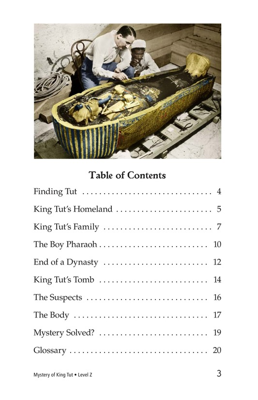 Book Preview For The Mystery of King Tut Page 3