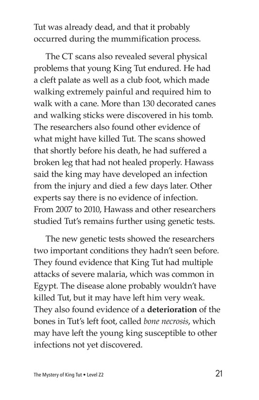 Book Preview For The Mystery of King Tut Page 21