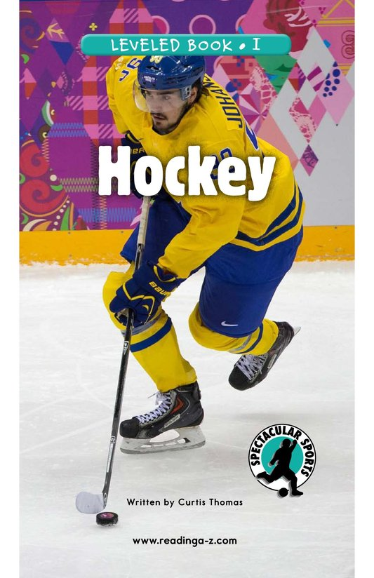 Book Preview For Hockey Page 0