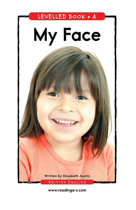 Book Preview For My Face Page 1
