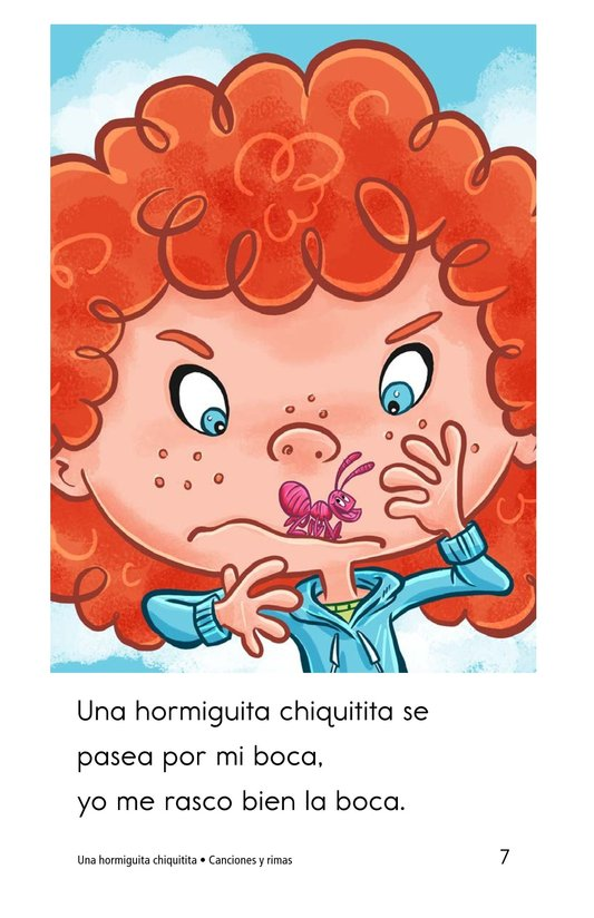 Book Preview For Una hormiguita chiquitita Page 7