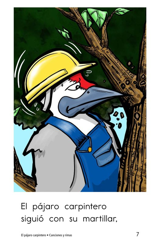 Book Preview For El pájaro carpintero Page 7