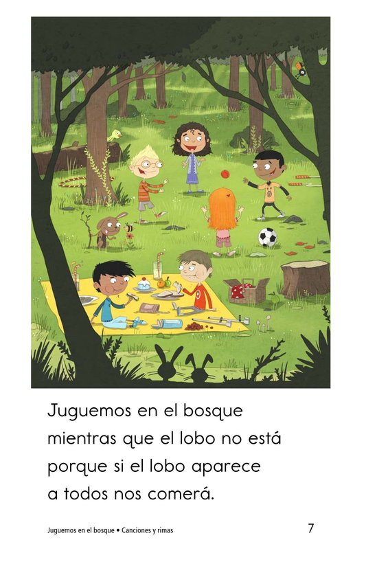 Book Preview For Juguemos en el bosque Page 7