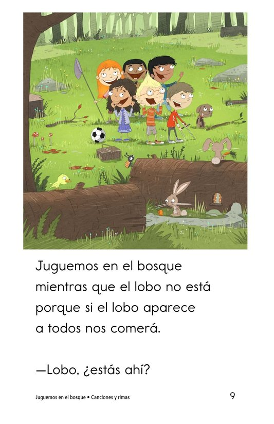 Book Preview For Juguemos en el bosque Page 9