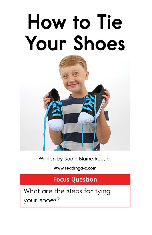 Book Preview For How to Tie Your Shoes Page 1