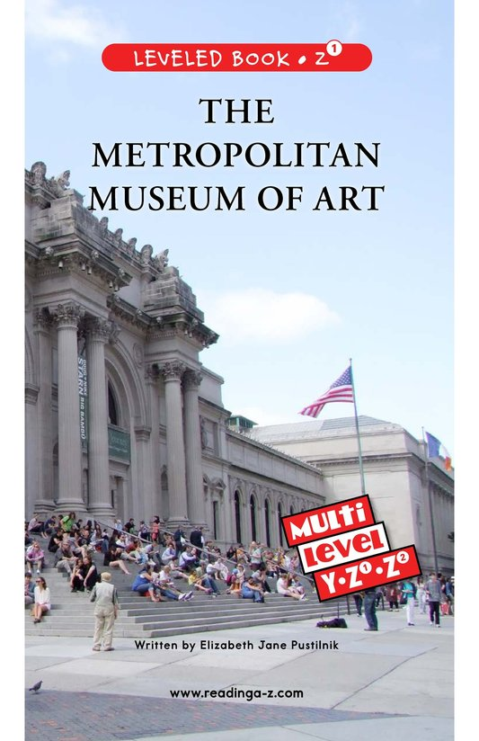 Book Preview For The Metropolitan Museum of Art Page 0