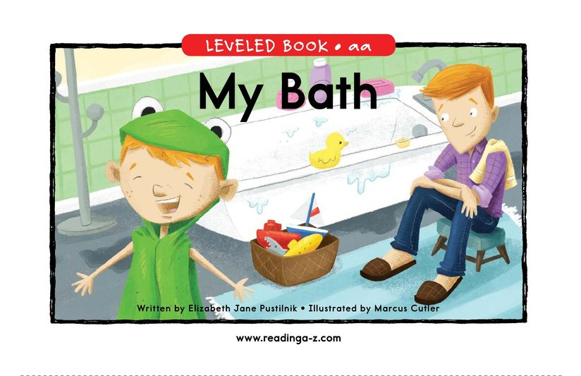 Book Preview For My Bath Page 0