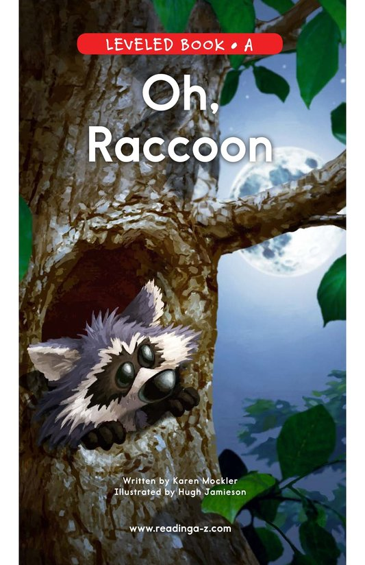 Book Preview For Oh, Raccoon Page 0