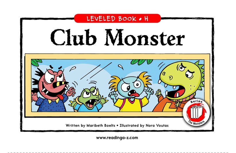Book Preview For Club Monster Page 1