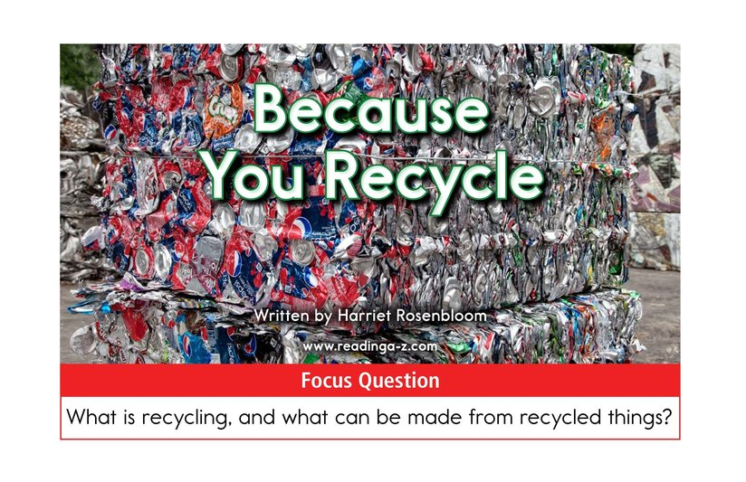 Book Preview For Because You Recycle Page 1