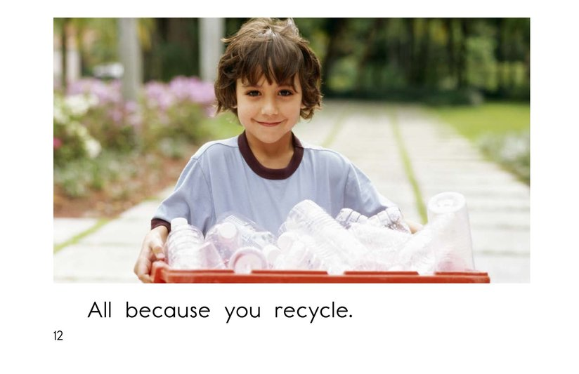 Book Preview For Because You Recycle Page 12