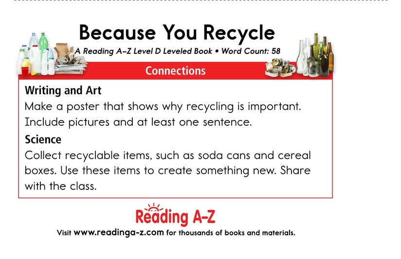Book Preview For Because You Recycle Page 13