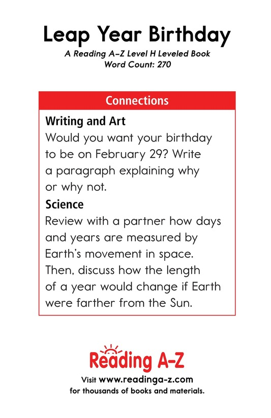 Book Preview For Leap Year Birthday Page 17