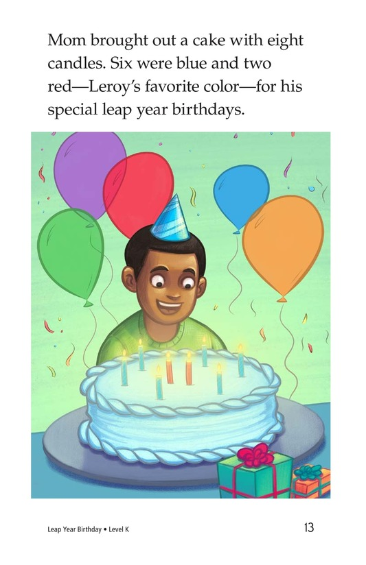 Book Preview For Leap Year Birthday Page 13