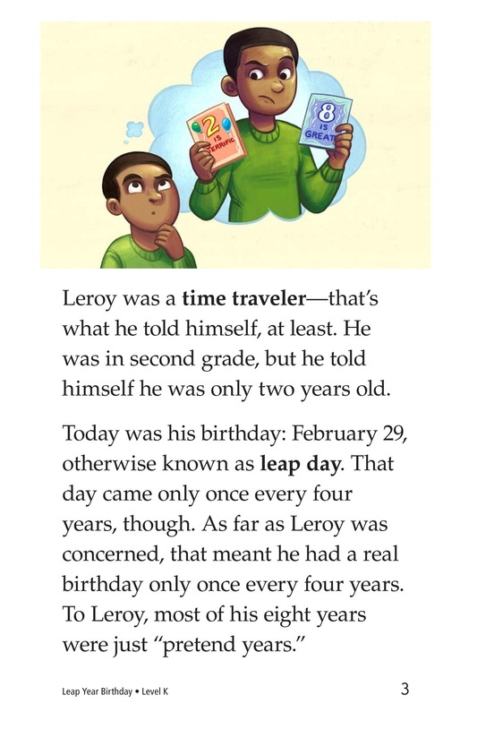 Book Preview For Leap Year Birthday Page 3