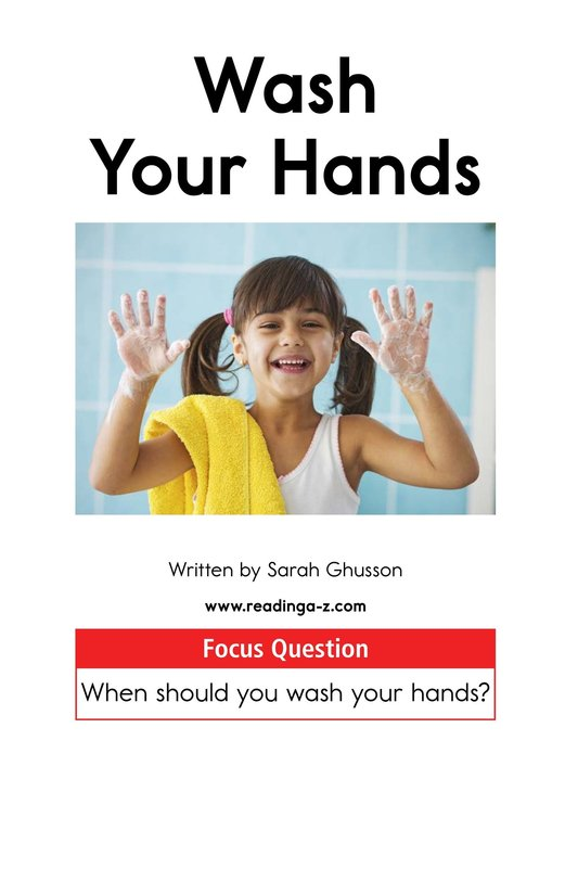 Book Preview For Wash Your Hands Page 1