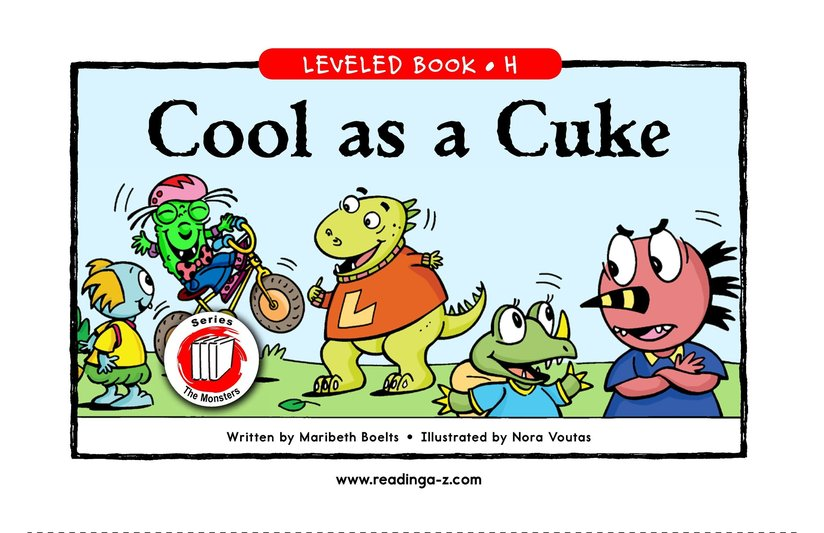 Book Preview For Cool as a Cuke Page 1
