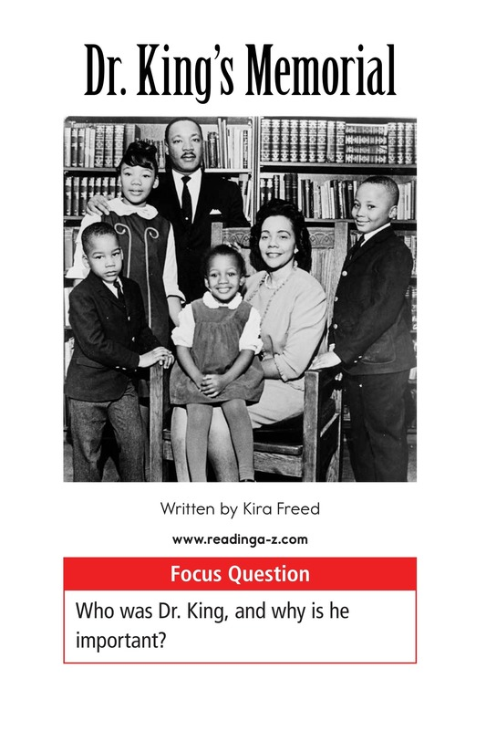 Book Preview For Dr. King's Memorial Page 1