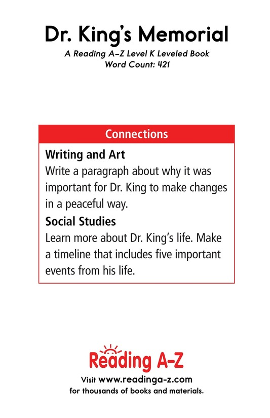 Book Preview For Dr. King's Memorial Page 17