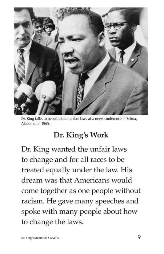 Book Preview For Dr. King's Memorial Page 9