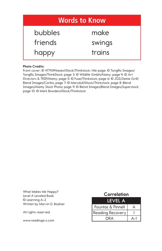 Book Preview For What Makes Me Happy? Page 2