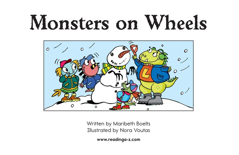 Book Preview For Monsters on Wheels Page 2