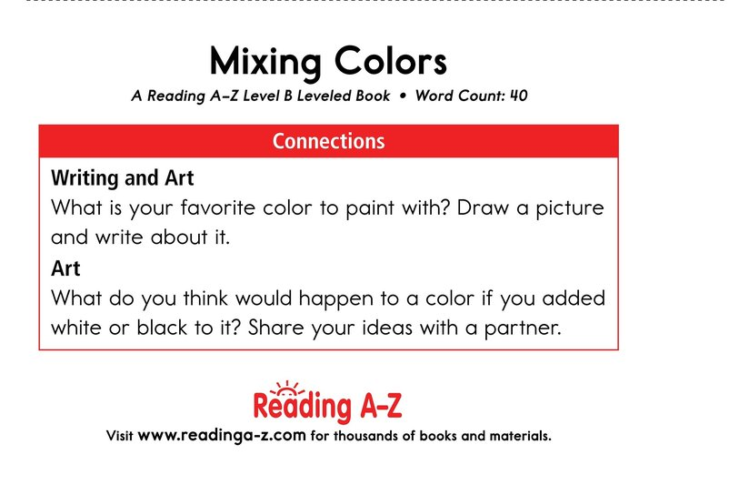 Book Preview For Mixing Colors Page 11