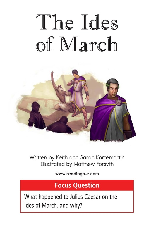 Book Preview For The Ides of March Page 1