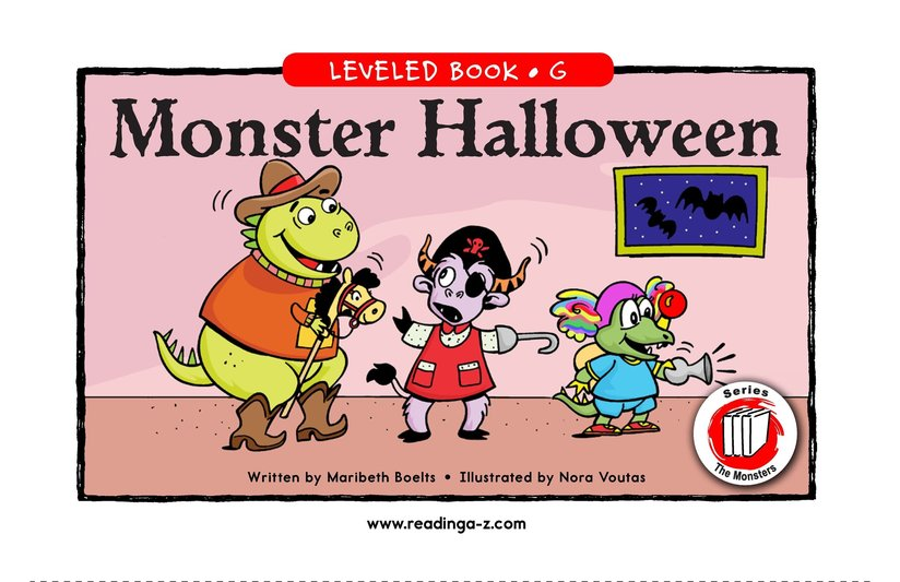 Book Preview For Monster Halloween Page 1