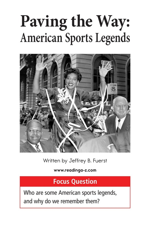 Book Preview For American Sports Legends Page 1