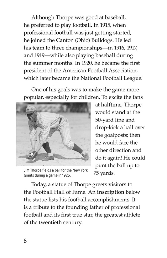 Book Preview For American Sports Legends Page 8